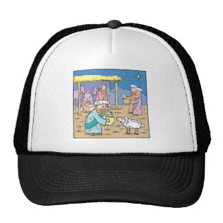 Christmas Card The Three Wise Kings Trucker Hats