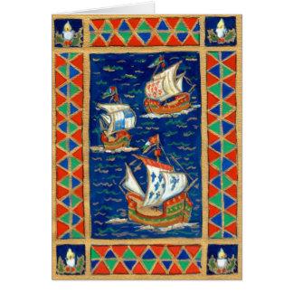 Christmas Card - Three Ships