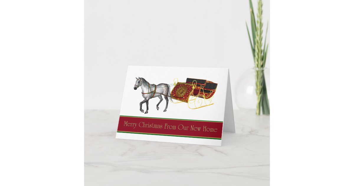 Christmas card we\'ve moved new address | Zazzle.com