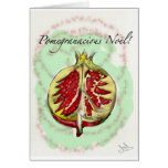 Christmas card with a Pomegranate