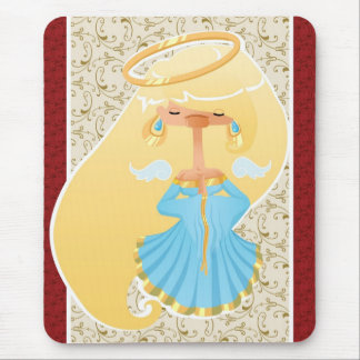Christmas card with Blue Angel Mouse Pad