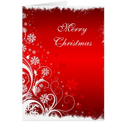 Christmas Card with decorative floral design