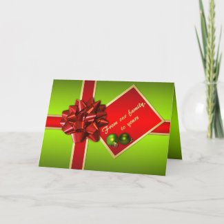 Christmas Card with Family Photo Insert card