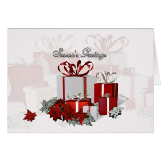 Christmas card with Gifts Business Greeting