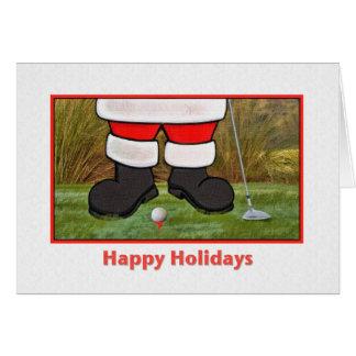 Golfing Santa Claus Greeting Cards Zazzle - Golf christmas cards