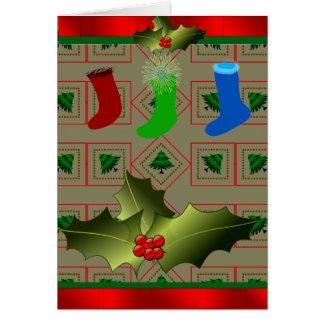 Christmas Card with Mistletoe