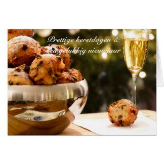 Christmas card with oliebollen