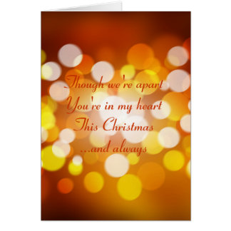 Christmas Card with romantic verse