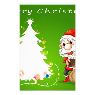 Christmas card with Santa Stationery