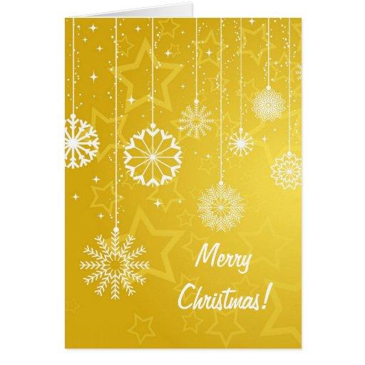 Christmas Card with snowflake design