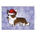 Christmas Cardigan Welsh Corgi Card