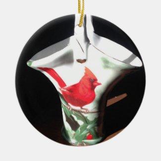 Christmas Cardinal Bird Basket
