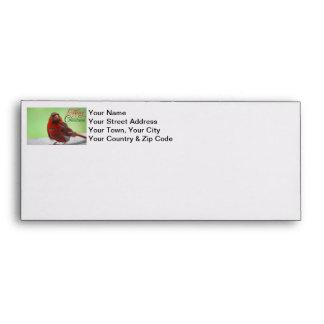 Christmas Cardinal Bird Picture Envelopes