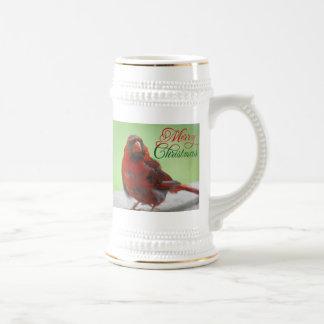 Christmas Cardinal Bird Picture Mugs