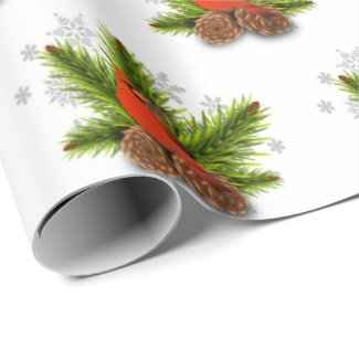Christmas Cardinal Bird Wrapping Paper