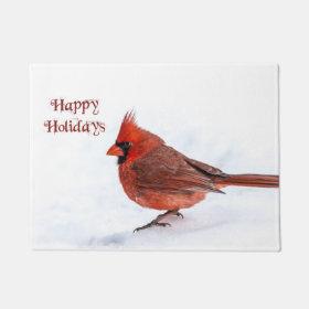 Christmas Cardinal Doormat