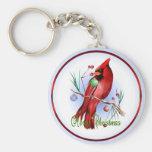 Christmas Cardinal Keychain