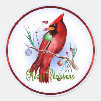 Christmas Cardinal Sticker