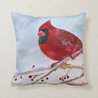 Cardinal Bird Throw Pillows : Christmas Cardinal Pillows - Decorative & Throw Pillows Zazzle