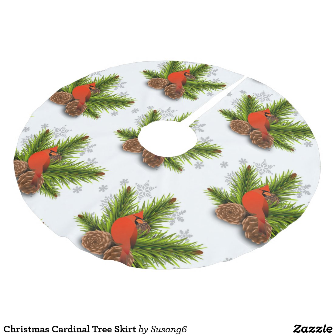 Christmas Cardinal Tree Skirt