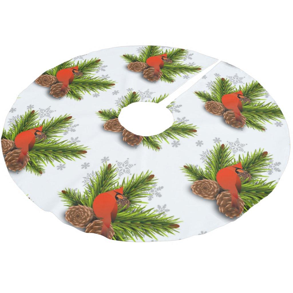 Christmas Cardinal Tree Skirt