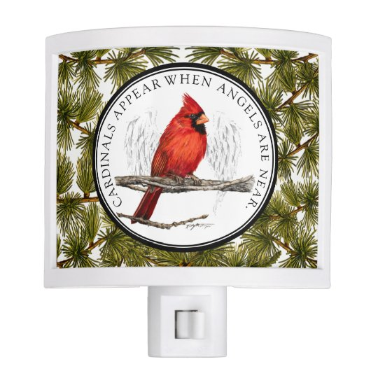 Christmas Cardinals Images.Christmas Cardinals And Angels Nightlight
