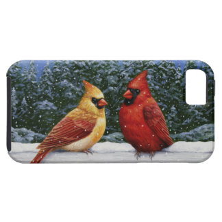 Christmas Cardinals and Snow iPhone SE/5/5s Case