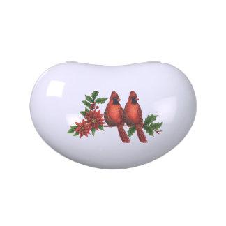 Christmas Cardinals Keepsake Candy Tin