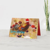 Christmas cards for chicken lovers