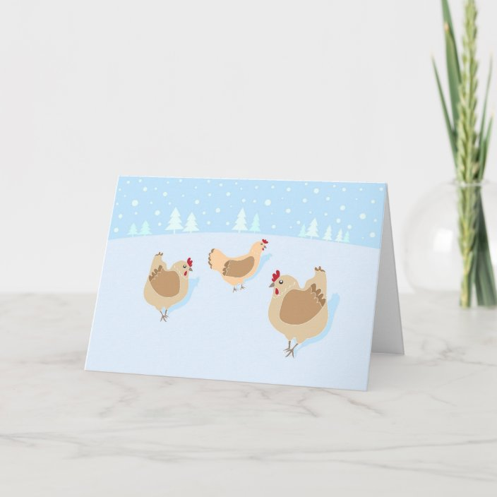 Christmas Cards For Chicken Lovers Zazzle Com