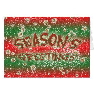 Christmas cards - Season's Greetings snowflakes
