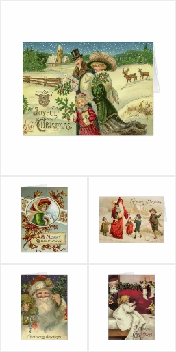 Christmas Cards, Vintage Art Add Your Family Photo