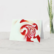 Christmas Carnation photo Holiday Card