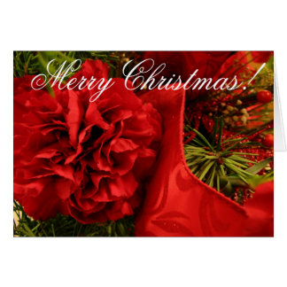 Christmas Carnations Card