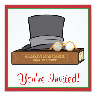 Christmas Carol and English Top Hat and Spectacles Card