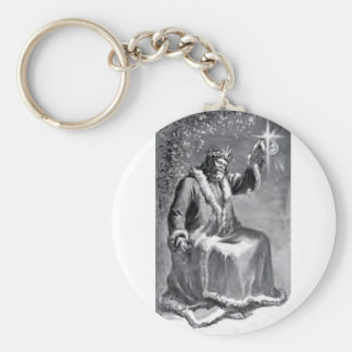 christmas carol basic round button keychain