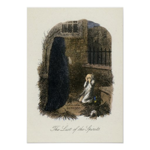 Christmas Carol - Ghost of Christmas Yet to Come Poster | Zazzle