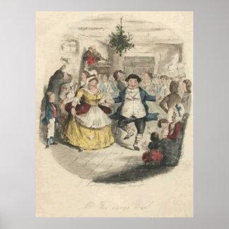 Christmas Carol Illustration Poster