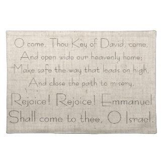 Christmas Carol Lyrics Song Celebrate Jesus Cloth Placemat