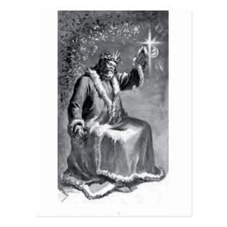 christmas carol postcard