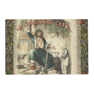 Christmas Carol Scrooge Ghost Present Artwork Placemat