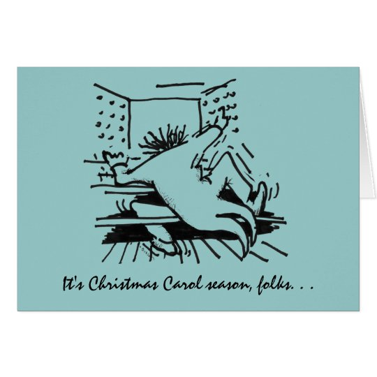 Christmas Carol Season card