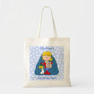 Christmas Carol Singer Tote Bag