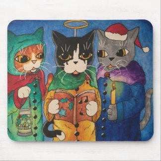 Christmas Carol Singers Mouse Pad