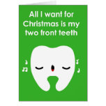 Christmas Carol Singing Tooth Card