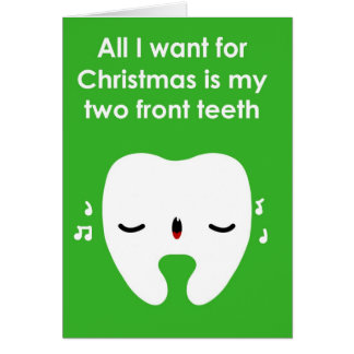Christmas Carol Singing Tooth Card