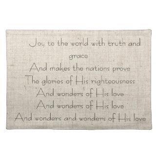 Christmas Carol Song Celebrate Jesus Placemats