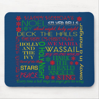 Christmas Carol Titles on Tshirts, Apparel, Gifts Mousepads