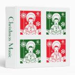 Christmas Caroler Vinyl Binder