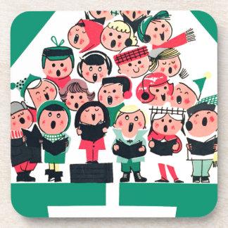 Christmas Carolers Beverage Coaster